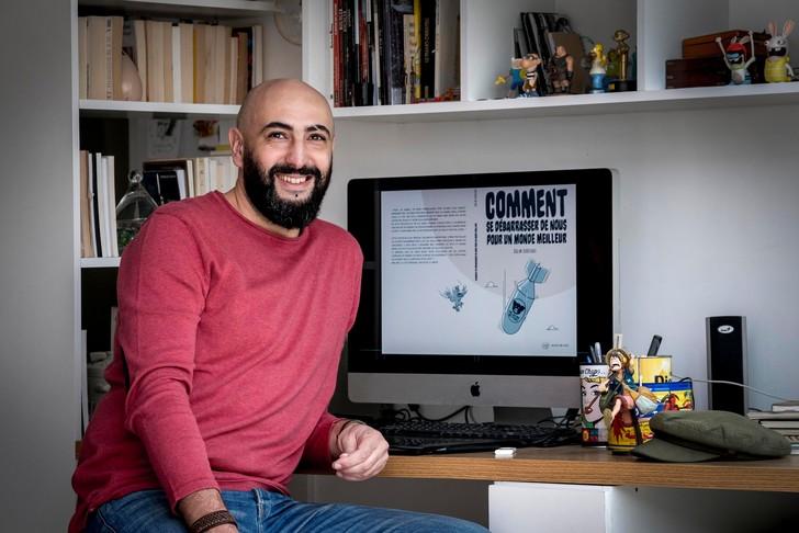 Salim-Zerrouki-auteur-illustrateur-BD-100-BLED-Comment-debarrasser-nous-un-monde-meilleur algerie-bande dessinee