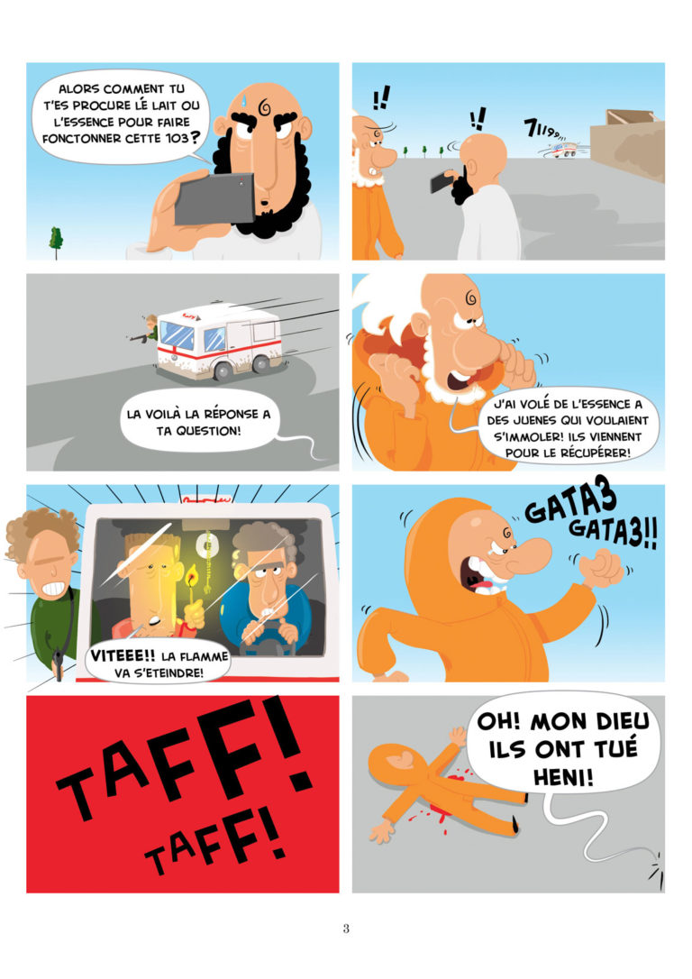 salim zerrouki bande dessinée yahia boulahia algérie 3