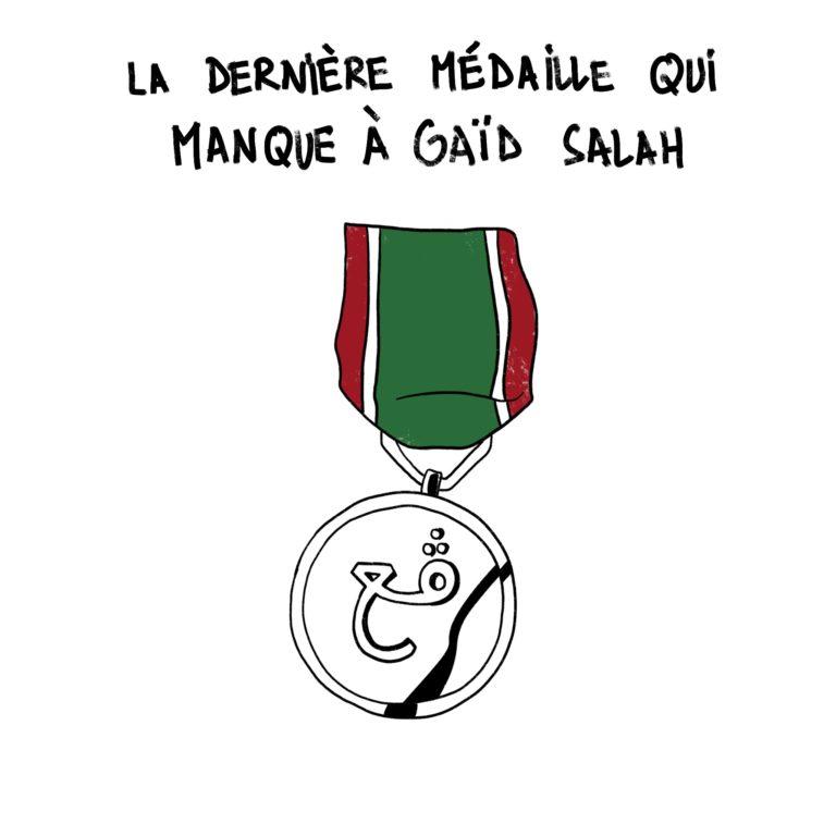 salim-zerrouki-caricature-hirak-algerie-medaille