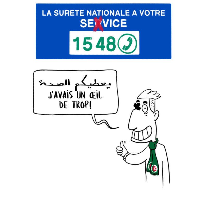 salim-zerrouki-caricature-hirak-algerie-police