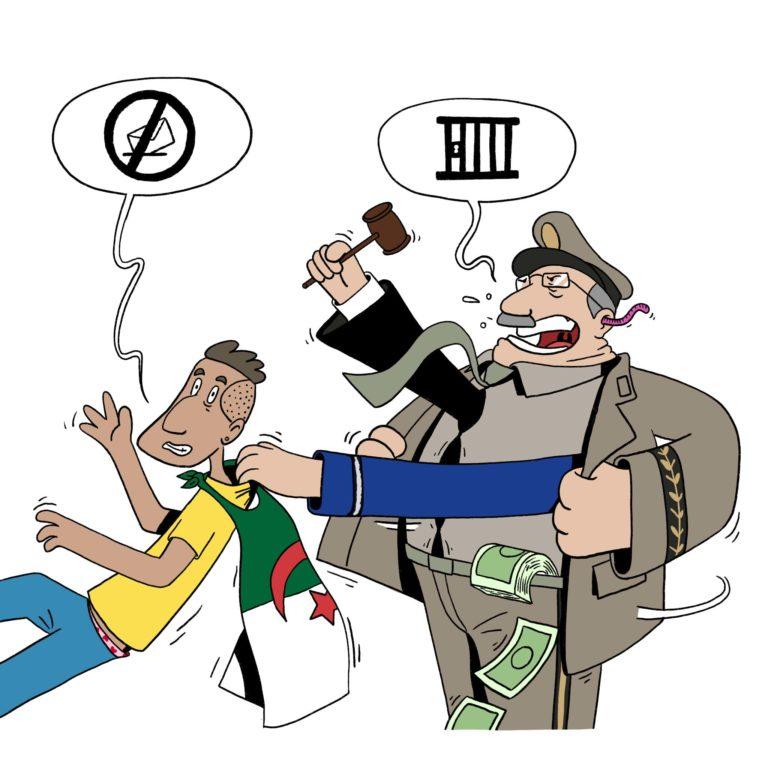 salim-zerrouki-caricature-hirak-algerie-prison